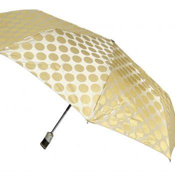 Luksusowy, jacquardowy parasol ZEST w ozdobnym pudełku-JACQUARDOWE ZŁOTE GROCHY
