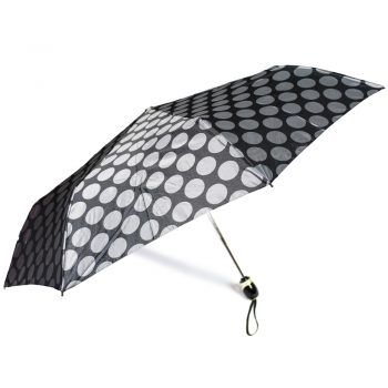 Luksusowy, jacquardowy parasol ZEST w ozdobnym pudełku-JACQUARDOWE SREBRNE JASNE GROCHY