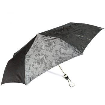 Luksusowy, jacquardowy parasol ZEST w ozdobnym pudełku- JACQUARDOWE CIEMNE KWIATY