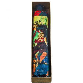 Luksusowy parasol ZEST w ozdobnym pudełku-GREEN ABSTRACTION