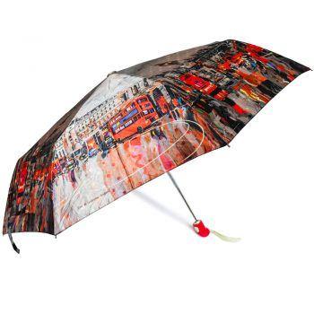 Luksusowy, SATYNOWY parasol ZEST w ozdobnym pudełku – LONDYN I CZERWONE AUTOBUSY