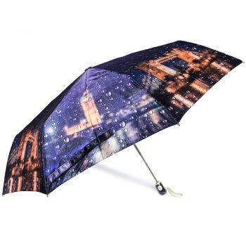 Luksusowy, SATYNOWY parasol ZEST w ozdobnym pudełku-LONDYN W DESZCZU