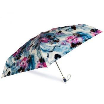 Gift Set – Parasolka ZEST w niebiesko różowe róże + niebieski, skórzany pasek